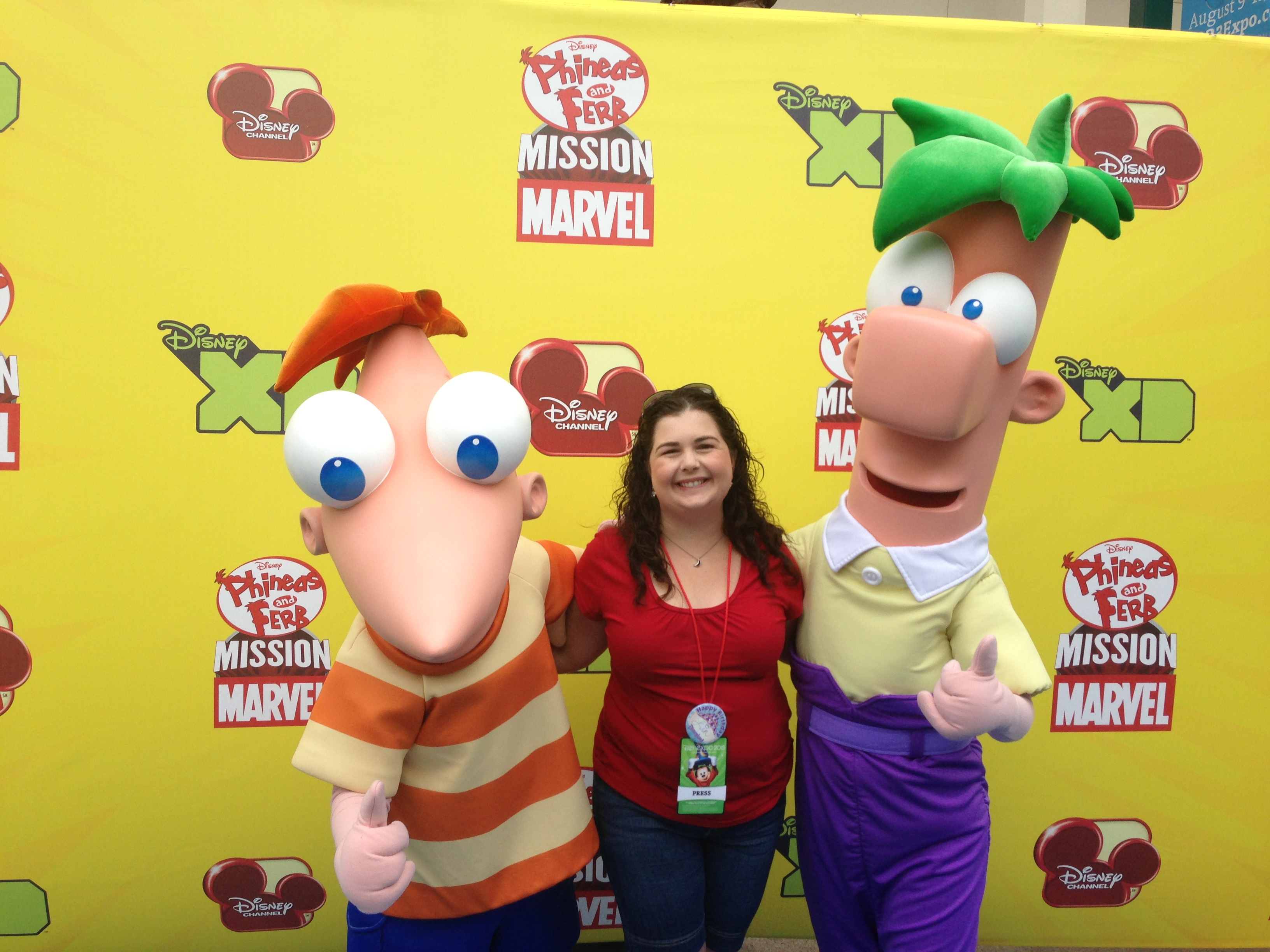 Just hanging out with a couple of good guys at the D23 Expo 2013.
