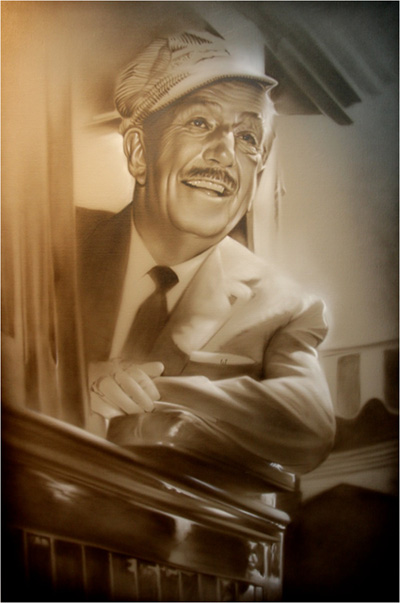 Walt in Train by Noah Fine Art