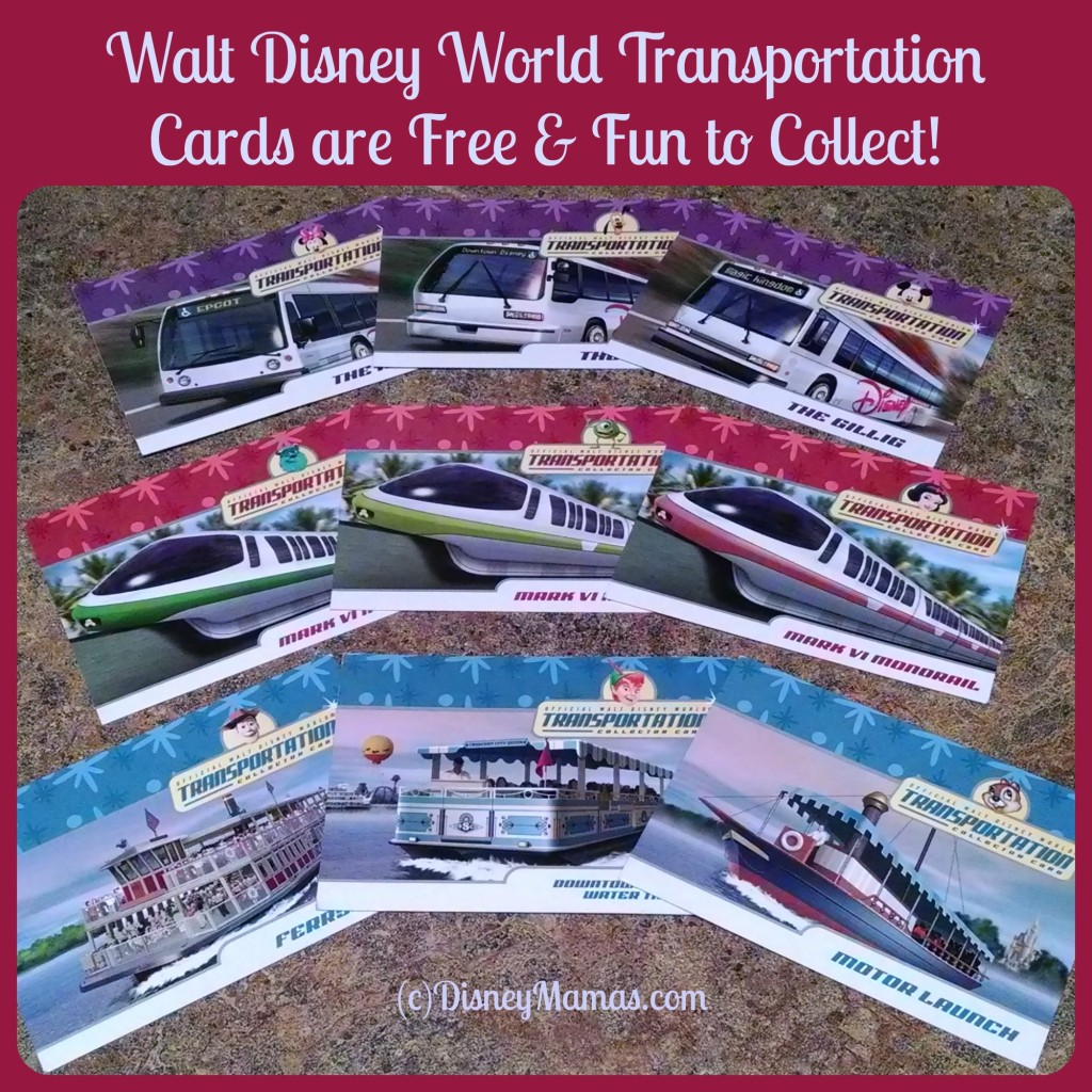 Walt Disney World Transportation Cards are Free and Fun for Kids to Collect!