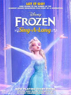 Frozen Sing Along Hits Theatres Tomorrow