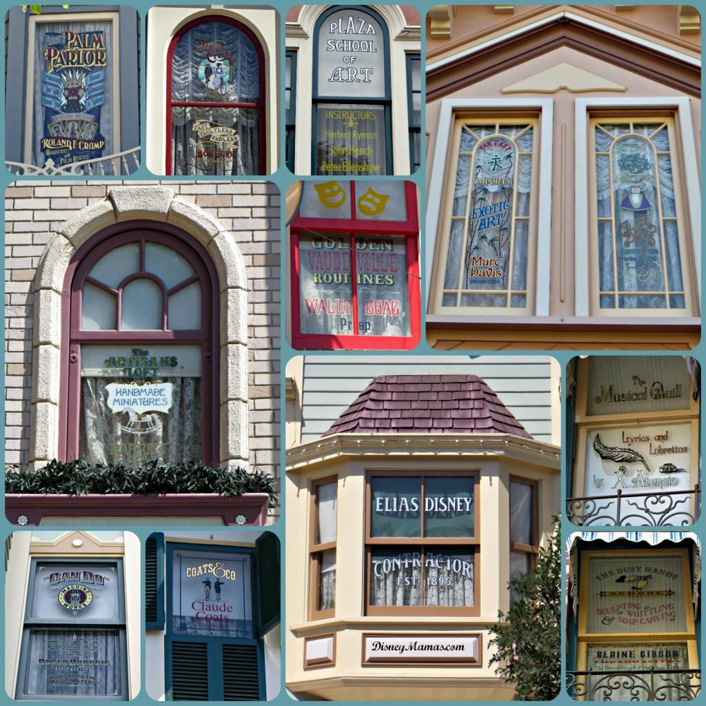 Disney History - Windows on Main Street at Disneyland