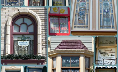 Disney History - Windows on Main Street at Disneyland