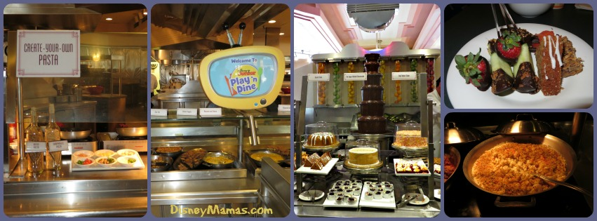 Disney Junior Play 'n Dine Buffet Offerings