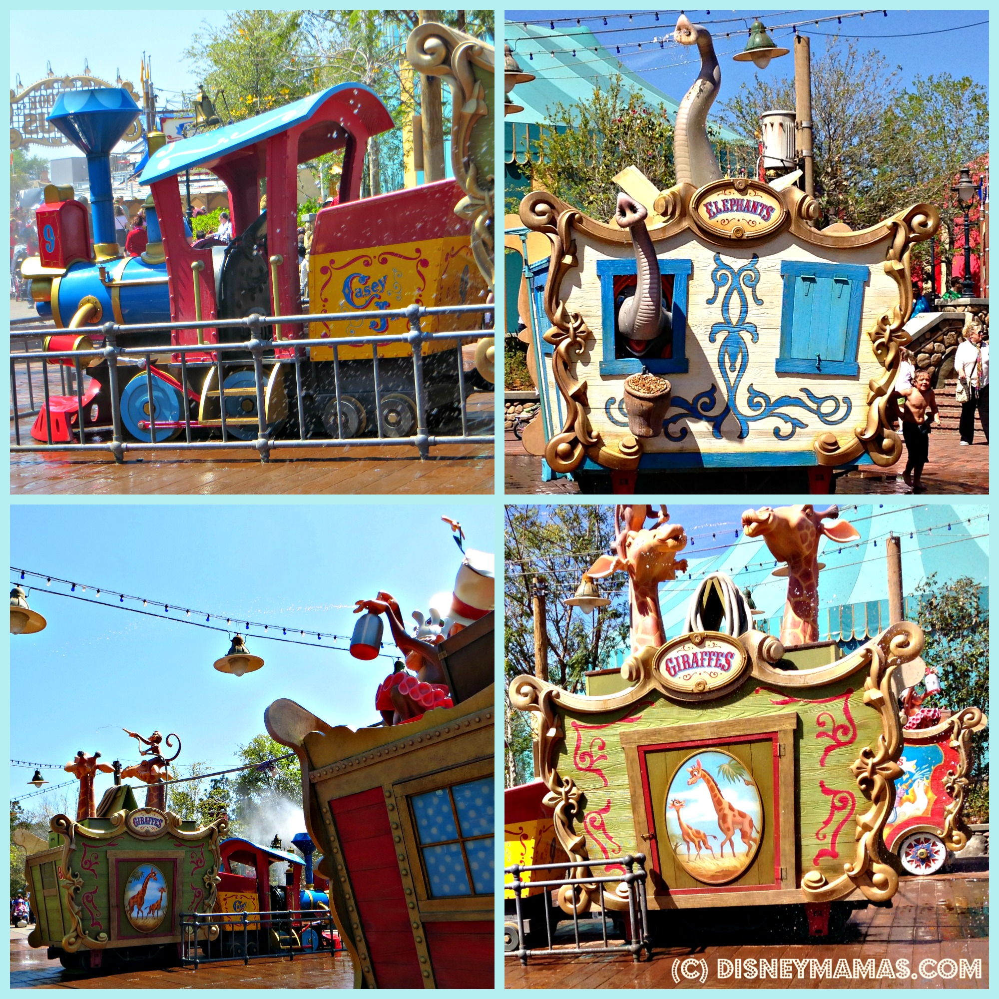 The Casey Jr. Splash 'N' Soak Station at Walt Disney World features whimsical circus animals ready to play!