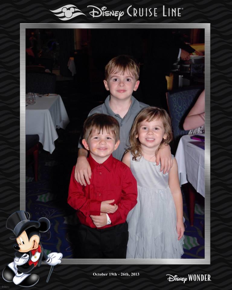 Our kids having fun on the Disney Wonder!
