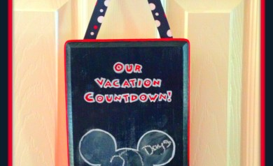 Create your own reusable Disney Countdown Calendar!