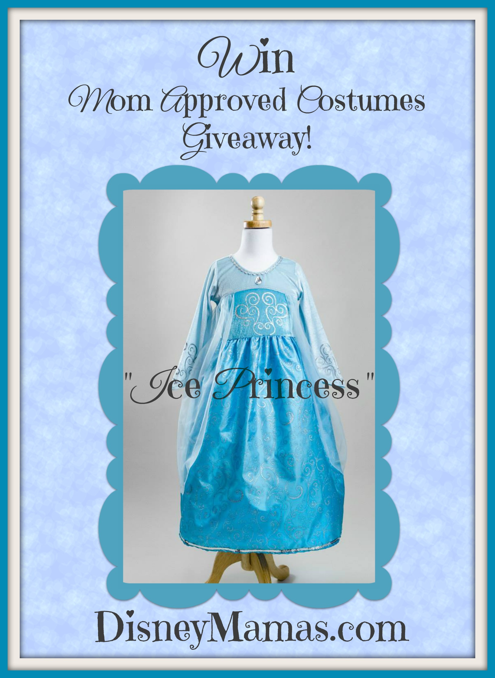 Do you wanna win a costume?  Win a Frozen Inspired Dress from Mom Approved Costumes and DisneyMamas.com