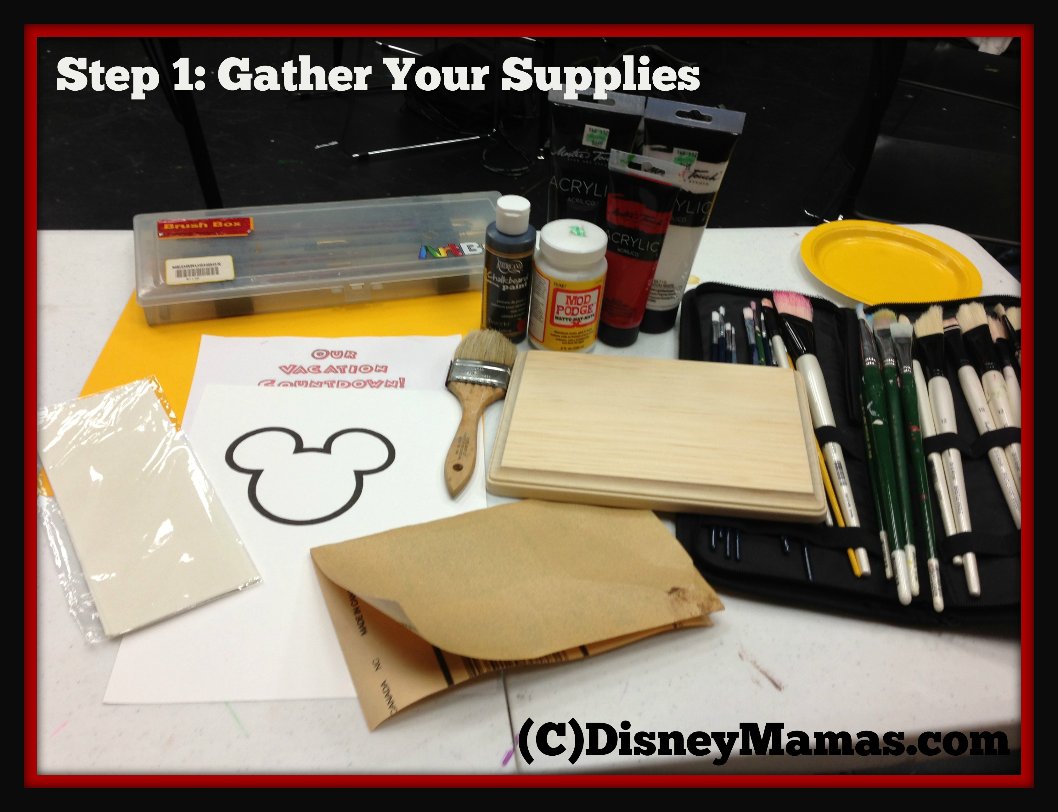 All supplies for this project are easily found at your local craft store!
