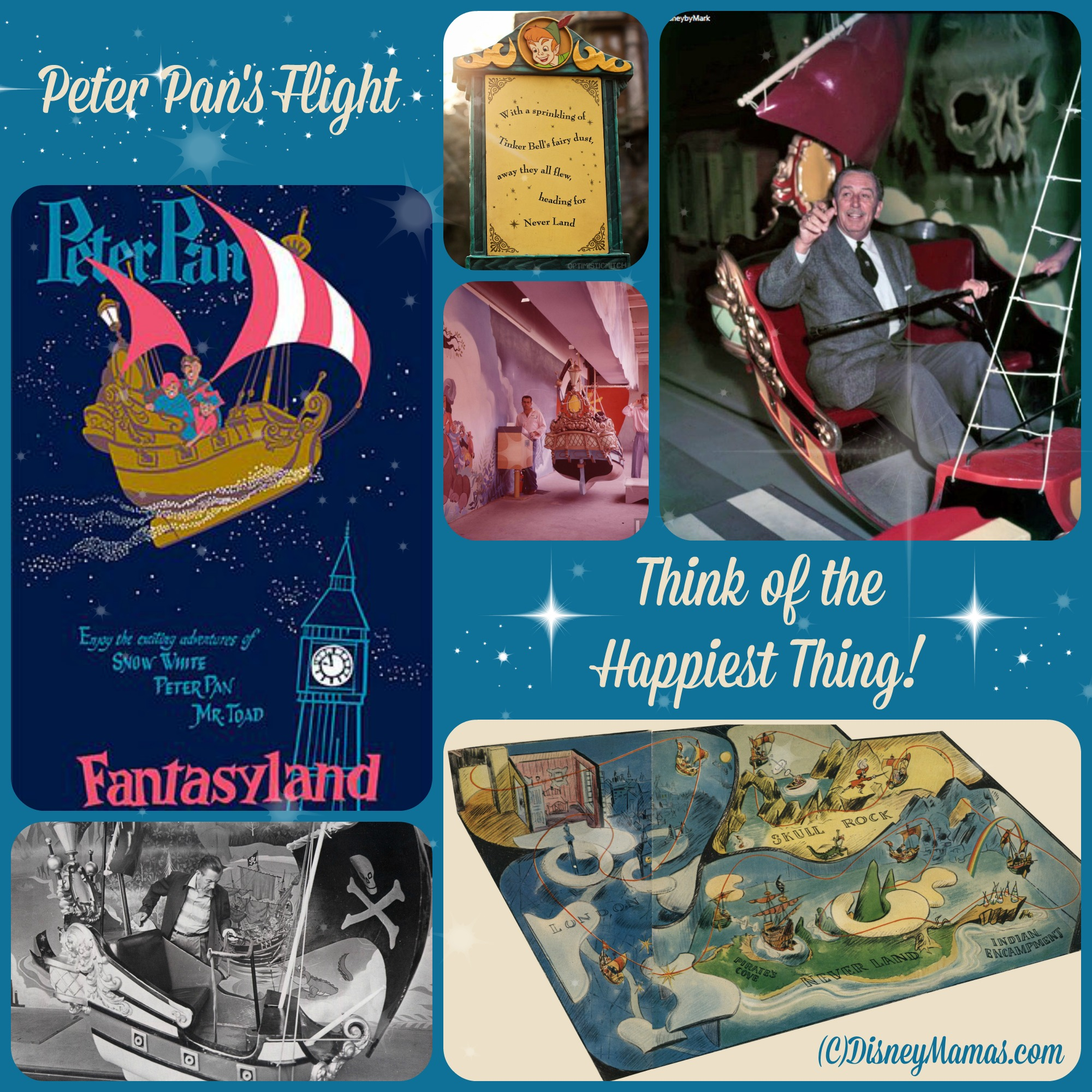 My design research for Peter Pan, a musical adaptation of the play by Sir James M. Barrie.  This design was heavily influenced by the concept art by Mary Blair, created for the animated feature, and by the attraction at Disneyland and Walt Disney World.