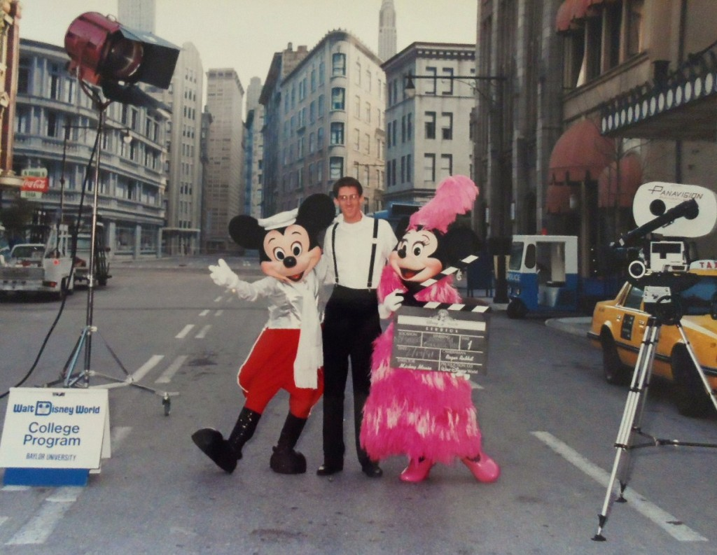 My husband Brant working at Disney's Hollywood Studios