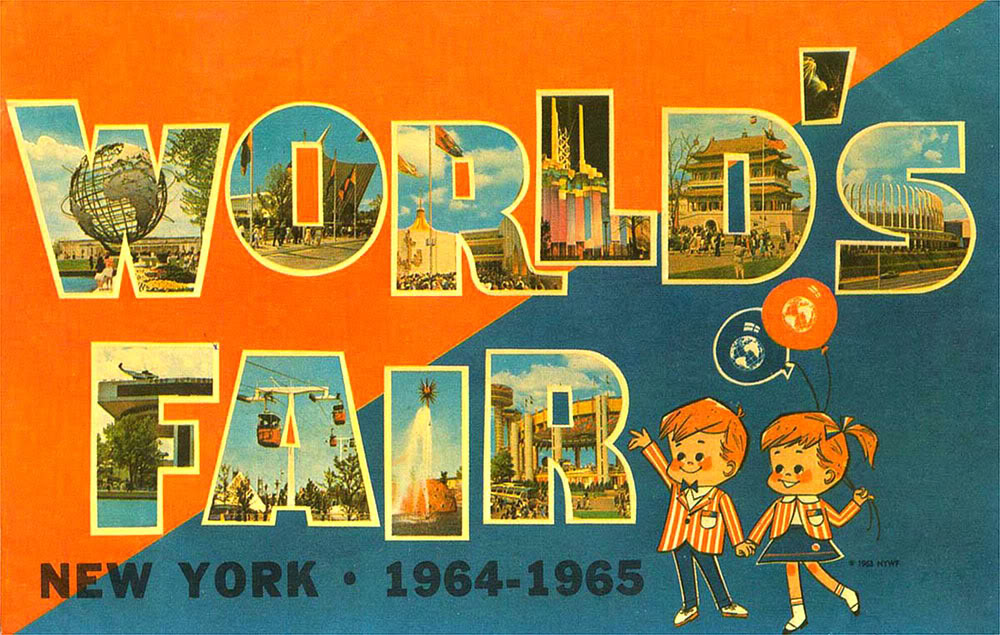 A vintage postcard from the 1964 New York World's Fair