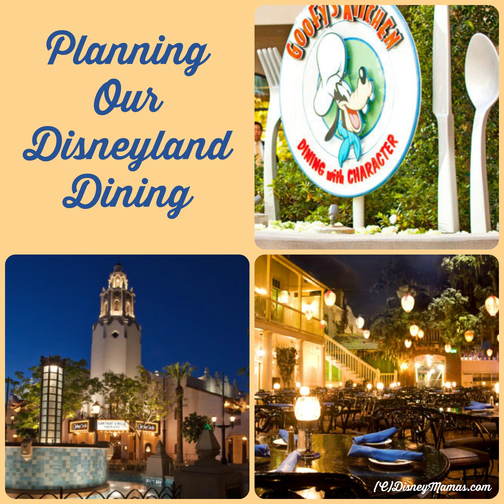 Planning Our Disneyland Dining