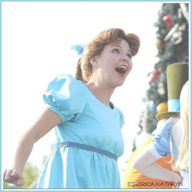 Lovely Wendy - Wendy can sometimes be found in Fantasyland, and can be seen in the Festival of Fantasy Parade.