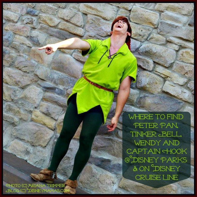 Tips on finding Peter Pan and the Never Land gang at Disney Destinations.
