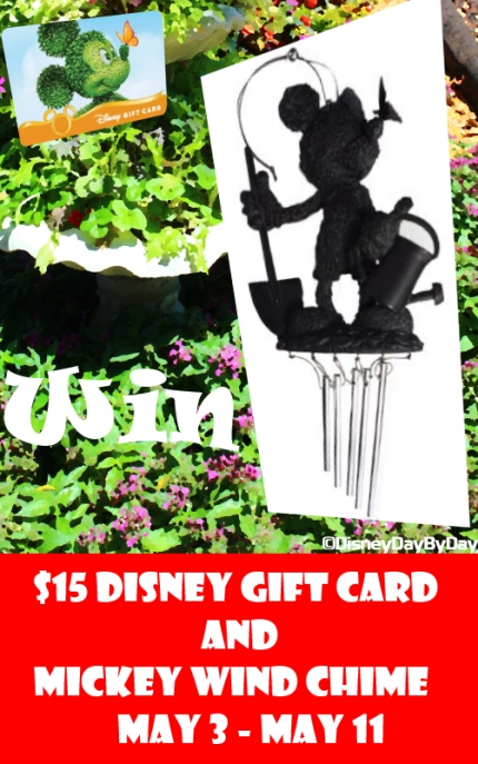 Win-in-May - Mickey Wind Chime and $15 Disney Gift Card