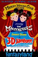 "In 1953, they released ""Working for Peanuts"" and ""Adventures in Music: Melody"". For Disneyland, they combined the two titles into one presentation, ""3D Jamboree"", that ran at the Mickey Mouse Club Theater in Fantasyland from 1956 to 1964."