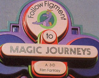 """Magic Journeys"" opened in 1982 in the Imagination Pavilion.  The glasses were rather strange since they just had grey lenses and not the red/blue film. But as soon as the film began to roll I was amazed at the depth and color of the ""live"" trees that were appearing before me."