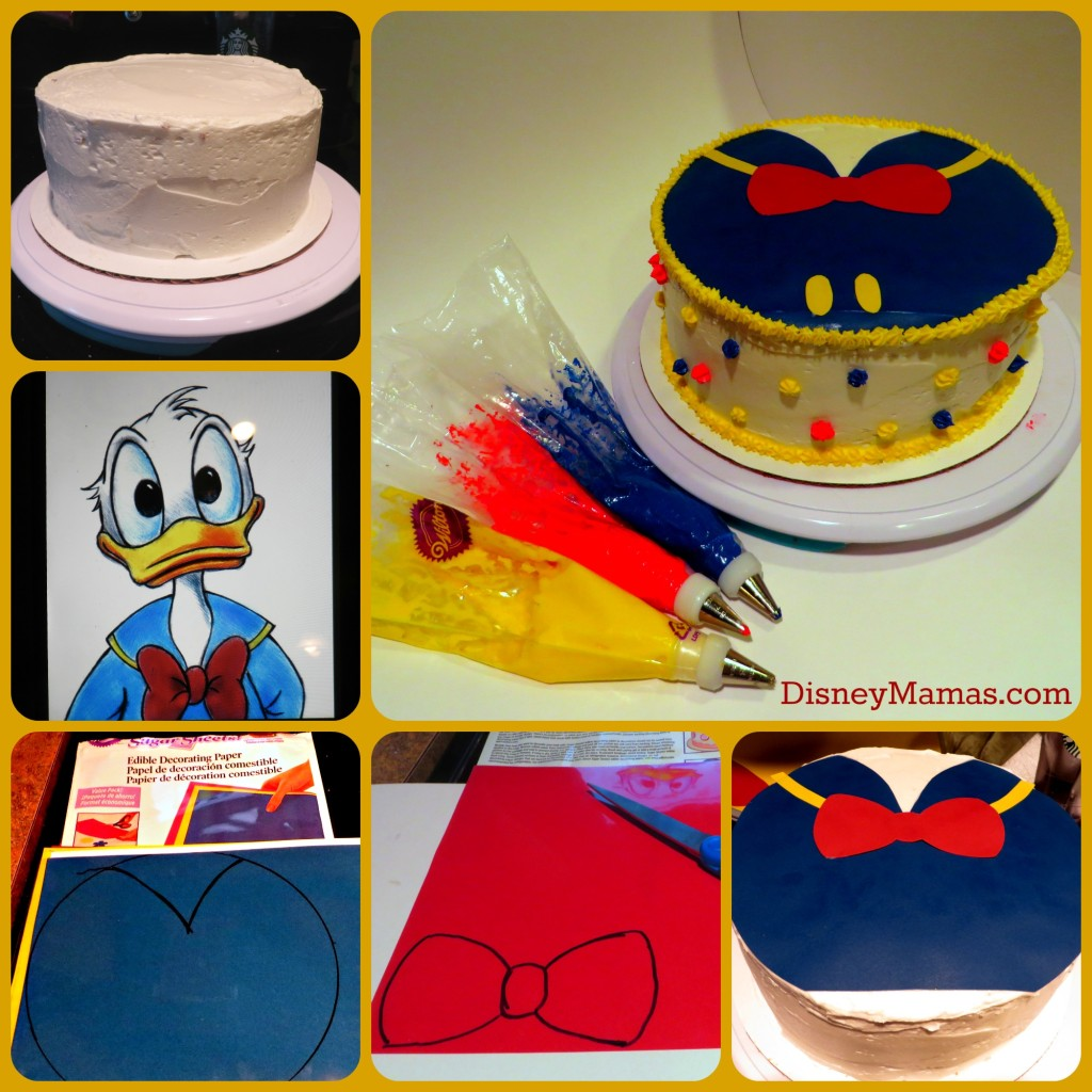 Decorating your Donald Duck Cake is surprisingly simple!