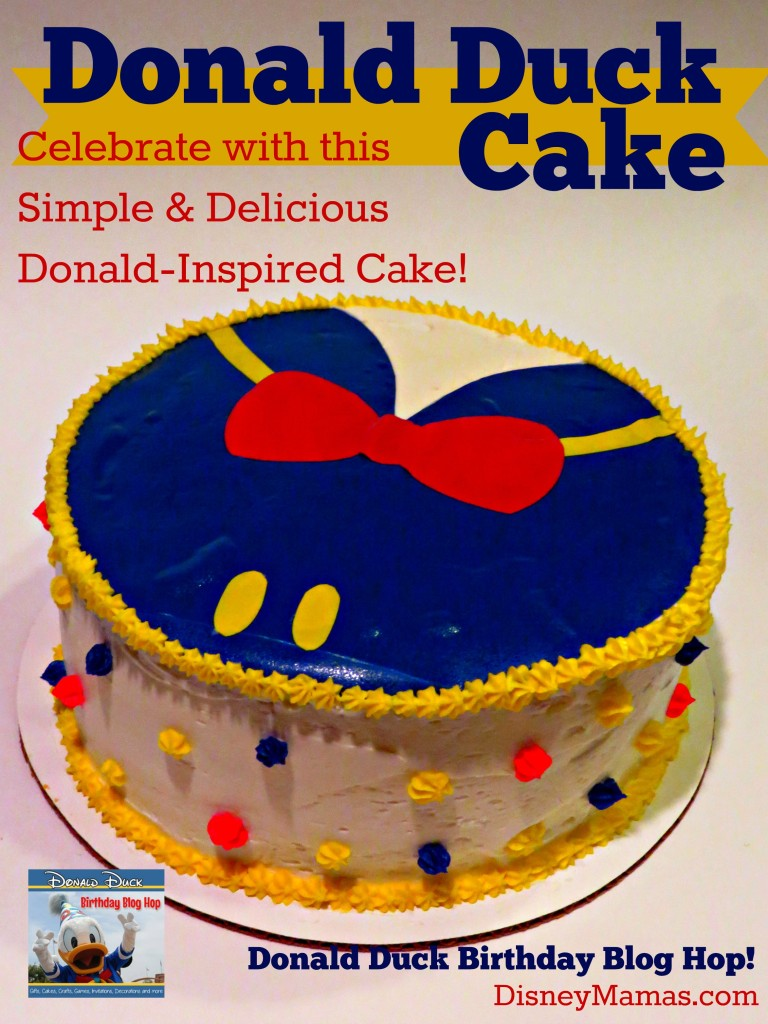 This Donald Duck Cake is surprisingly simple and completely delicious!