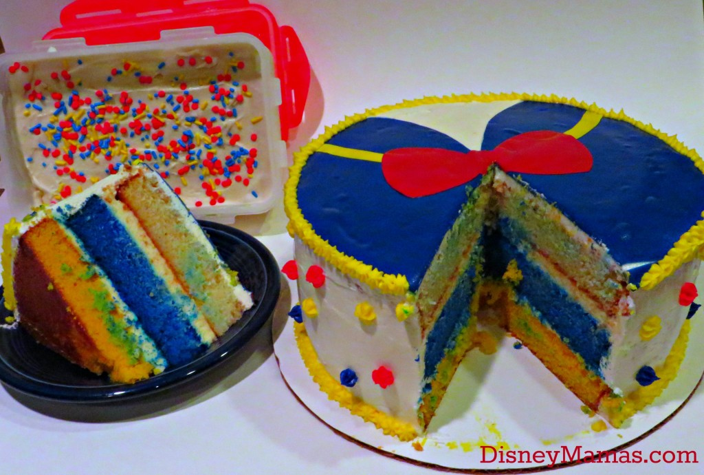 Serve your Donald Duck Cake with Ice Cream topped with Donald Colored Sprinkles!