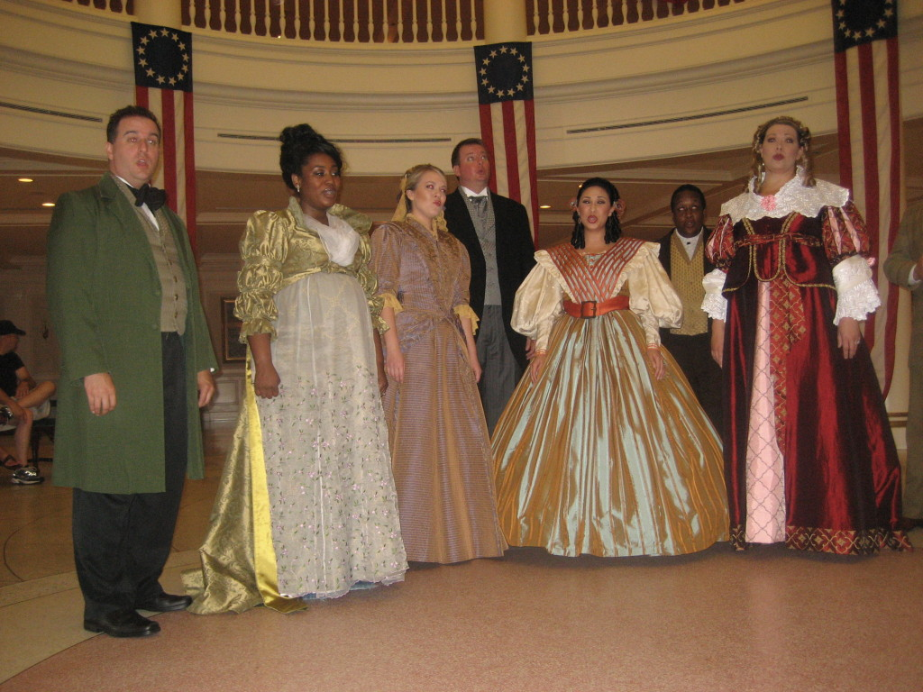 Voices of Liberty perform in the rotunda of The American Adventure at Epcot