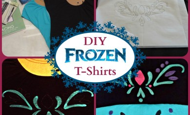 These DIY Frozen T-Shirts are easy to make and really cute!