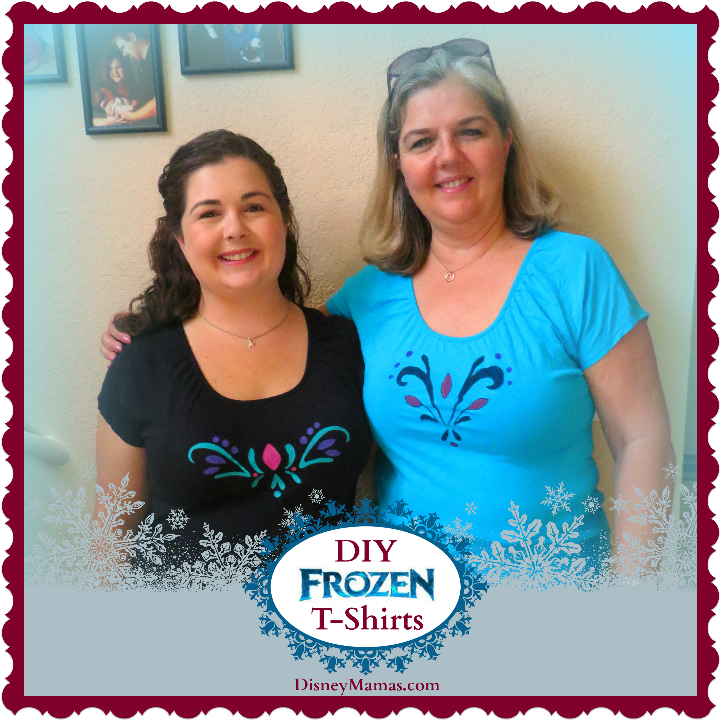 DIY Frozen T-Shirts from Disney Mamas.