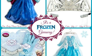 One lucky individual will win BOTH Official Disney Frozen Dresses (Size 5/6) from Disney Store, plus the Elsa Crown and Elsa Accessory Set! Enter between July 27 & Aug. 9, 2014