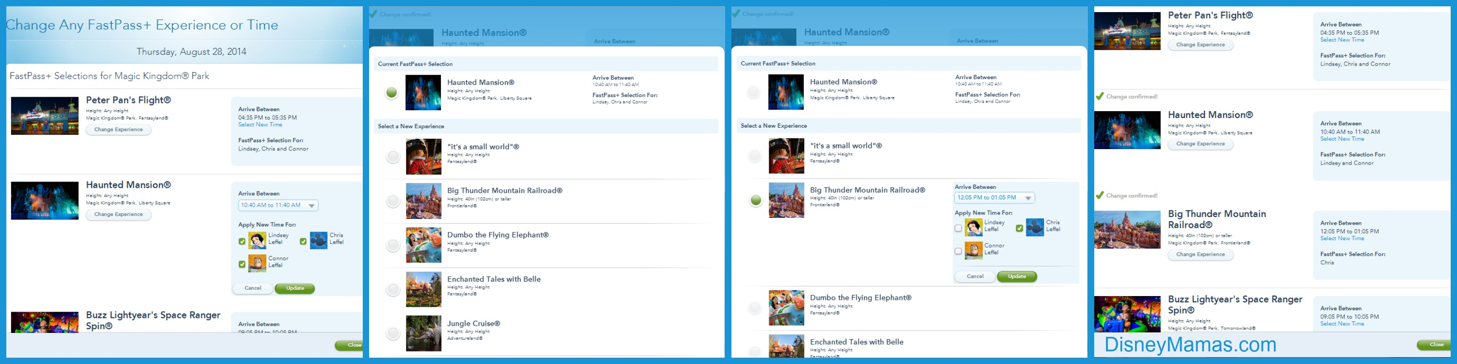 How to modify your existing FastPass+ reservations