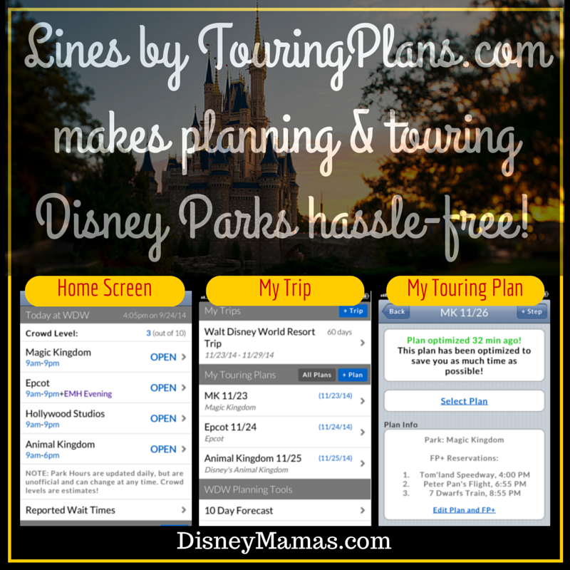 Lines by TouringPlans Makes Touring Disney Parks Hassle Free!