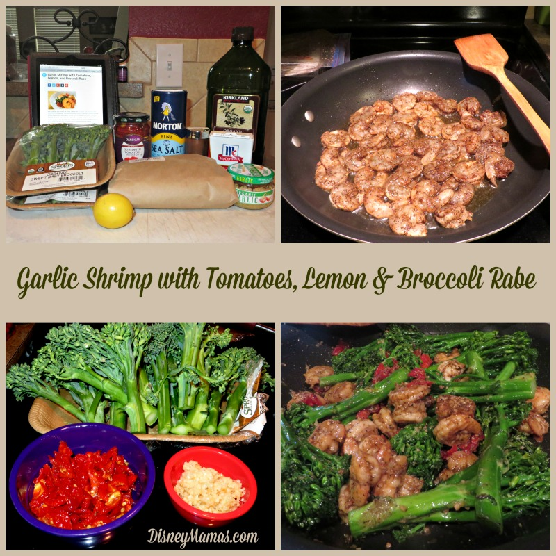 Garlic Shrimp with Tomatoes, Lemon & Broccoli Rabe. A simple, delicious recipe, perfect for a quick weeknight meal.