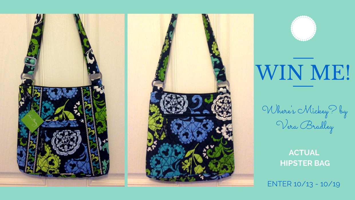 Win this beautiful Where's Mickey Hipster by Vera Bradley! | Disney Mamas