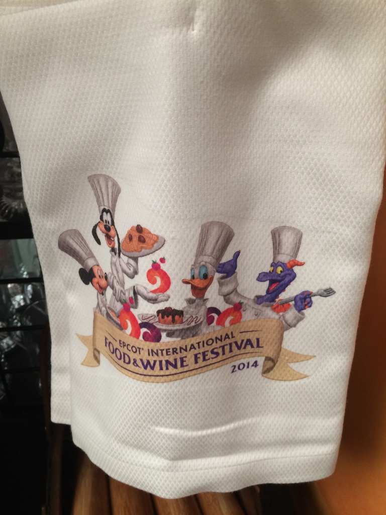 We love this adorable dishtowel featuring Chef's Mickey, Figment and Donald!
