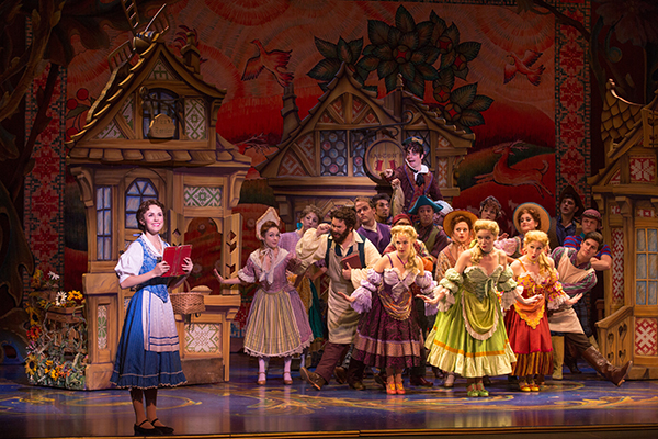 From the 2014 NETworks Tour, Jillian Butterfield as Belle and the cast of Disney's Beauty and the Beast. Photo by Matthew Murphy.