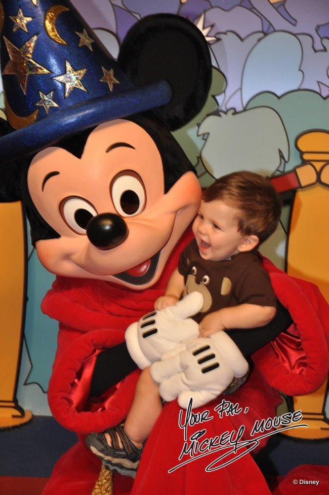 Meeting Sorcerer Mickey in the Animation Building at Disney's Hollywood Studios is a must every trip!