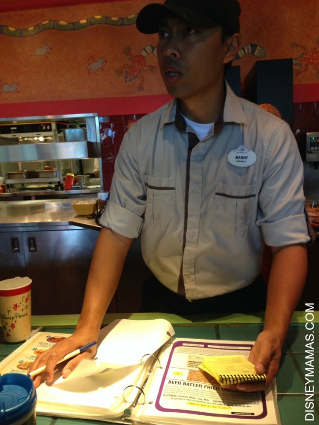 Dining with Food Sensitivities at Walt Disney World | The Allergy Book at Flame Tree BBQ