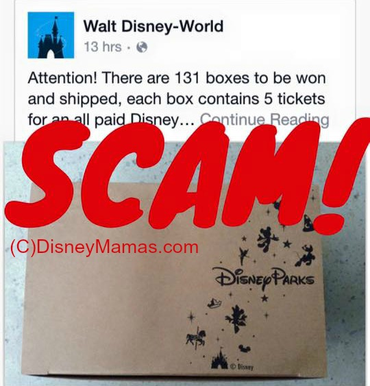 Just one example of a popular Disney Giveaway Scam. The hyphen is an indicator that this is a fake page. | Disney Mamas
