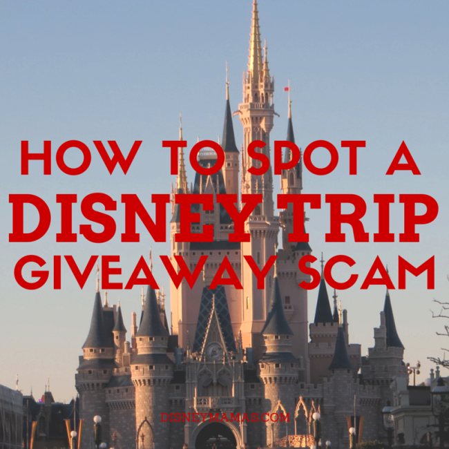 How to Spot a Disney Trip Giveaway SCAM! Important information to protect you and your personal information. | DisneyMamas.com