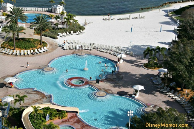Disney's Contemporary Resort features 2 heated pools, a slide, private cabanas, watercraft rental, a beach and much more!