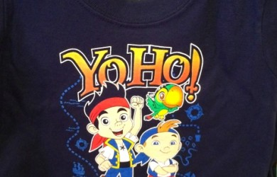Adorable new Jake and the Neverland Pirate's t-shirt available at Walt Disney World