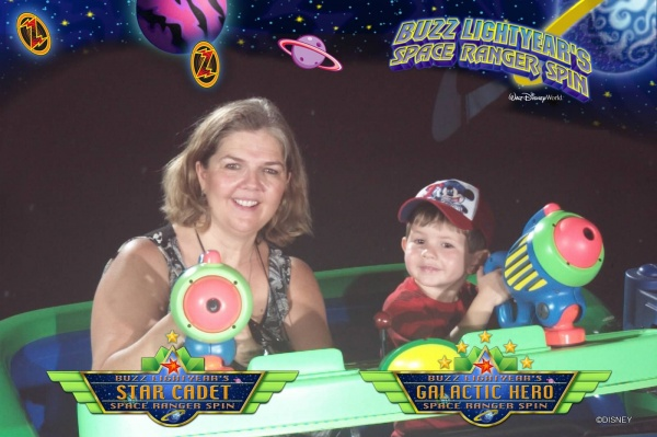 Connor's Magic Kingdom Must-Dos - Buzz Lightyear Space Ranger Spin