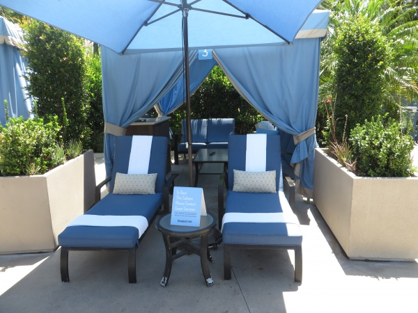 Rent a private cabana to make your day at the Disneyland Hotel pools even more relaxing