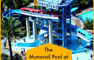 The Monorail Pool at Disneyland Hotel is the perfect combination of fun and whimsy!