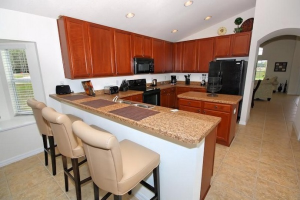 Perfect kitchen at the Veranda Palms Villa in Kissimmee, Florida. Just right for your vacation needs!
