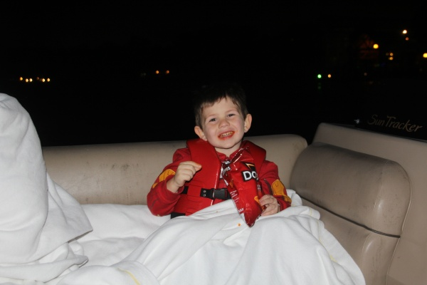 Enjoying the snacks aboard our Wishes Fireworks Cruise