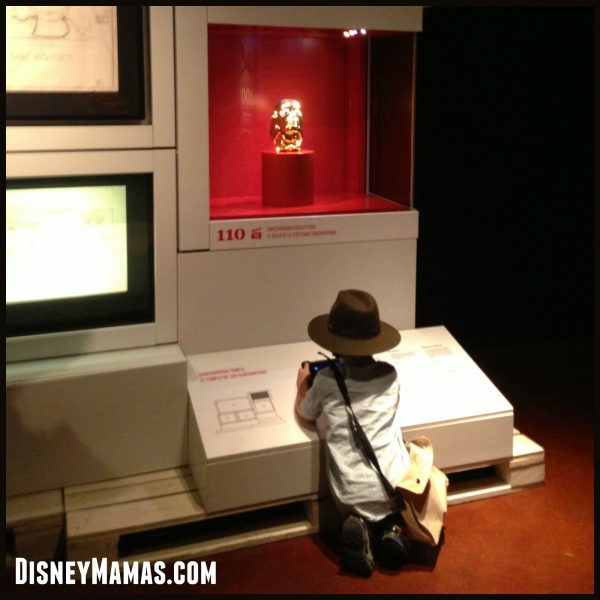 My Little Indiana, Connor, enjoying the Indiana Jones and the Adventure of Archaeology exhibit.