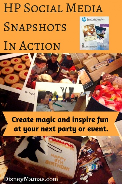 HP Social Media Snapshots in Action - How to add extra magic to your next party or event