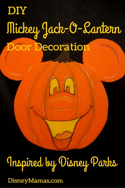 DIY Mickey Jack-O-Lantern Door Decoration Inspired by Disney Parks
