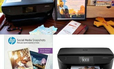 HP Social Media Snapshots - HP Printer set-up to print wirelessly directly from the party.