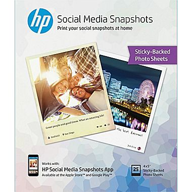 HP Social Media Snapshots Sticky Photo Paper retails for $9.95 at Staples and is BOGO FREE from now through October 31st, 2015.